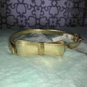 NWOT Gold Lilly Pulitzer bow belt